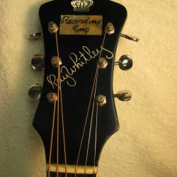 1939 Gibson Recording King Ray Whitley Headstock After